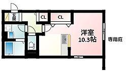 Osaka Metro御堂筋線 江坂駅 徒歩5分の賃貸アパート 1階ワンルームの間取り