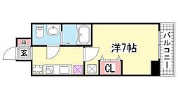 ラ・フォーレ長田[201号室]の間取り