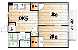 ニュ−シティ京都[2階]の間取り