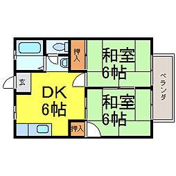 ソーブルA[1階]の間取り