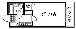 ロジュマン海塚1[703号室]の間取り
