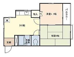 シャルマンA棟[2階]の間取り