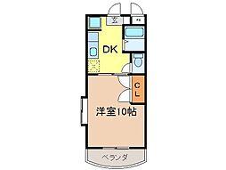 静岡県富士市中島の賃貸マンションの間取り