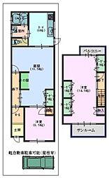 [一戸建] 大阪府大阪市阿倍野区文の里4丁目 の賃貸【/】の間取り