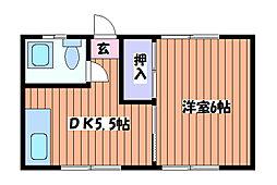 コーポ白樺[2階]の間取り