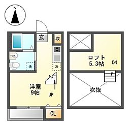 La Casa de Sarah 日比野[2階]の間取り