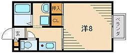 サンモールD棟[1階]の間取り