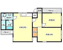 兵庫県神戸市垂水区高丸1丁目の賃貸マンションの間取り