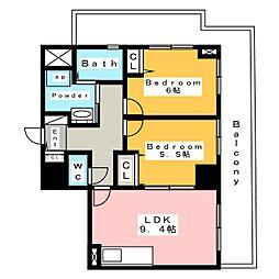 アルデア (ARDEA)[14階]の間取り