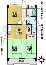 愛知県名古屋市千種区茶屋が坂2丁目の賃貸マンションの間取り