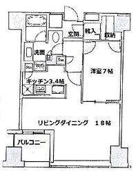 セントラルパークタワーラトゥール新宿[16階]の間取り