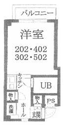 セレッソ帝塚山[5階]の間取り