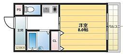 ウイングコート東大阪[4階]の間取り