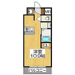 プレサンス京都三条大橋鴨川苑[2階]の間取り