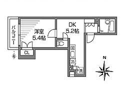 モンコルボー[2階]の間取り