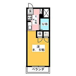 レジデンスTL・西荘[4階]の間取り