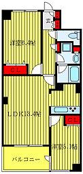 JR山手線 大塚駅 徒歩9分の賃貸マンション 9階2LDKの間取り