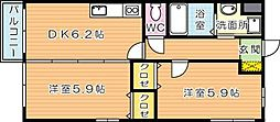 Curum三ヶ森(クルム三ヶ森)[2階]の間取り