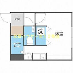 SAKURA(サクラ)239 2階1Kの間取り