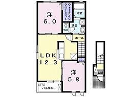 モアニ ケアラ エカヒ[2階]の間取り