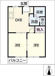 ALLEY COURT・S[2階]の間取り