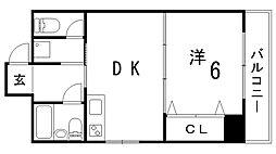 三宮UEハウス[4A号室]の間取り