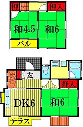 [一戸建] 埼玉県越谷市瓦曽根1丁目 の賃貸【/】の間取り