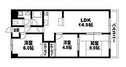 ファミ−ルDAN[3階]の間取り
