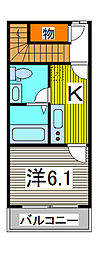 コージーコート[2階]の間取り