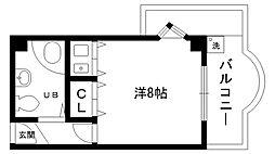 ラガール夙川[402号室]の間取り