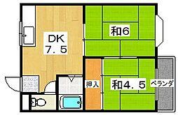 グリーンハイツユコ[3階]の間取り