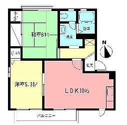 ヴェルドミール壱番館[2階]の間取り