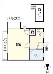 プレース平田橋[1階]の間取り