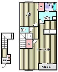 ミネルヴァ[2階]の間取り