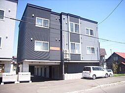 北海道江別市緑町西1丁目の賃貸アパートの外観