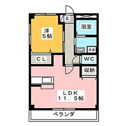 カーサフェリーチェ A棟[1階]の間取り