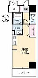 JR高徳線 栗林公園北口駅 徒歩6分の賃貸マンション 8階ワンルームの間取り