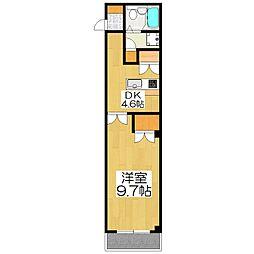 ラ・カモガワ62[107号室]の間取り