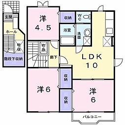 セレーノ御所野II[2階]の間取り