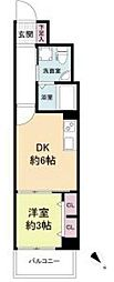 JR東海道・山陽本線 元町駅 徒歩9分の賃貸マンション 7階1DKの間取り