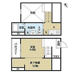 JR中央本線 新守山駅 徒歩10分の賃貸アパート 1階1Kの間取り