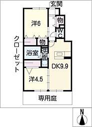 Petillants A棟[1階]の間取り