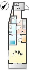 西武新宿線 狭山市駅 バス10分 下広瀬下車 徒歩1分の賃貸マンション 2階1Kの間取り