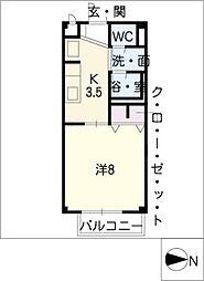 ハピネスM[2階]の間取り