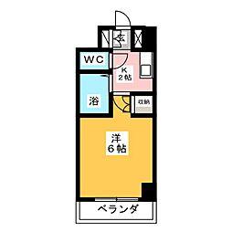 ステュディオ仙台[6階]の間取り
