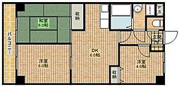 マノワール溝口[4階]の間取り