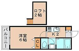 レンブランサ若宮2A[1階]の間取り