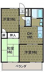 神奈川県川崎市麻生区千代ケ丘4丁目の賃貸アパートの間取り