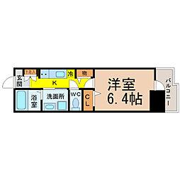 WillDo太閤通(ウィルドゥタイコウドオリ)[6階]の間取り
