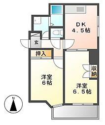 レジデンシア東別院(第7協和ビル)[2階]の間取り